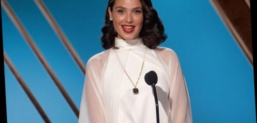 Gal Gadot goes Old Hollywood glam at the 2021 Golden Globes