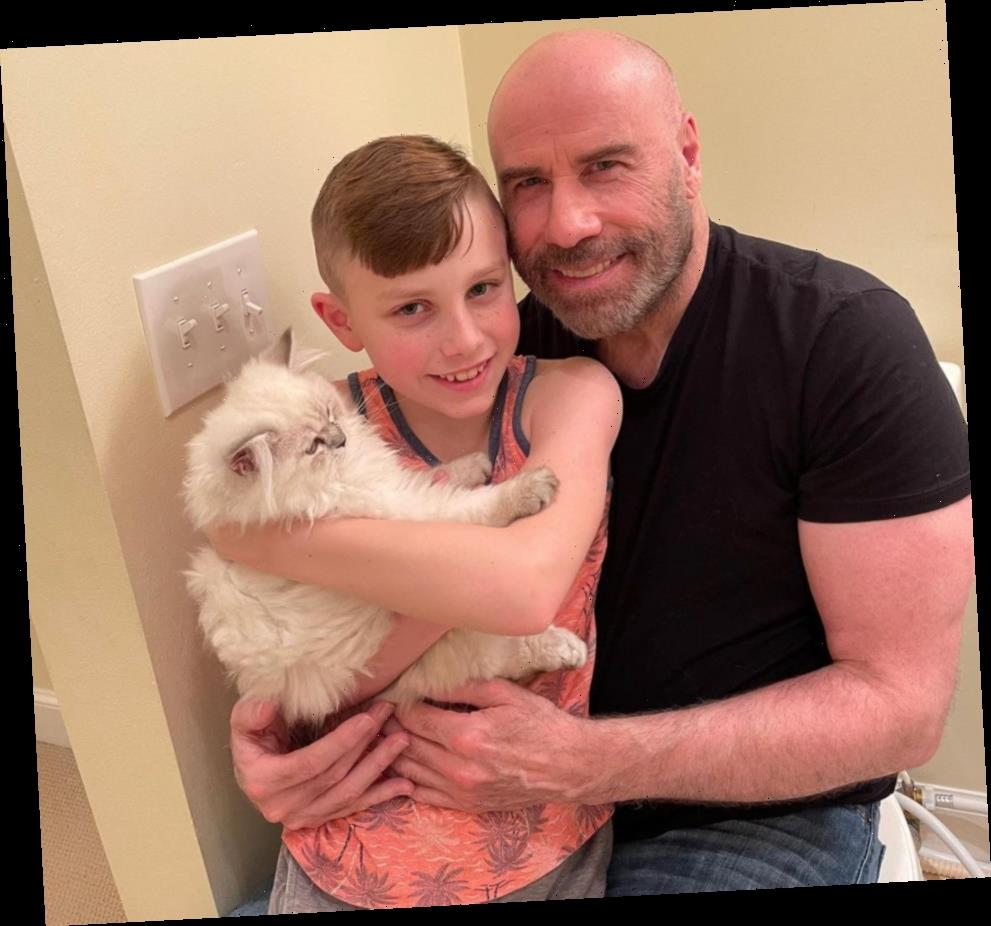 Meet Crystal! John Travolta Shares Adorable Photo of Son Ben's New Cat