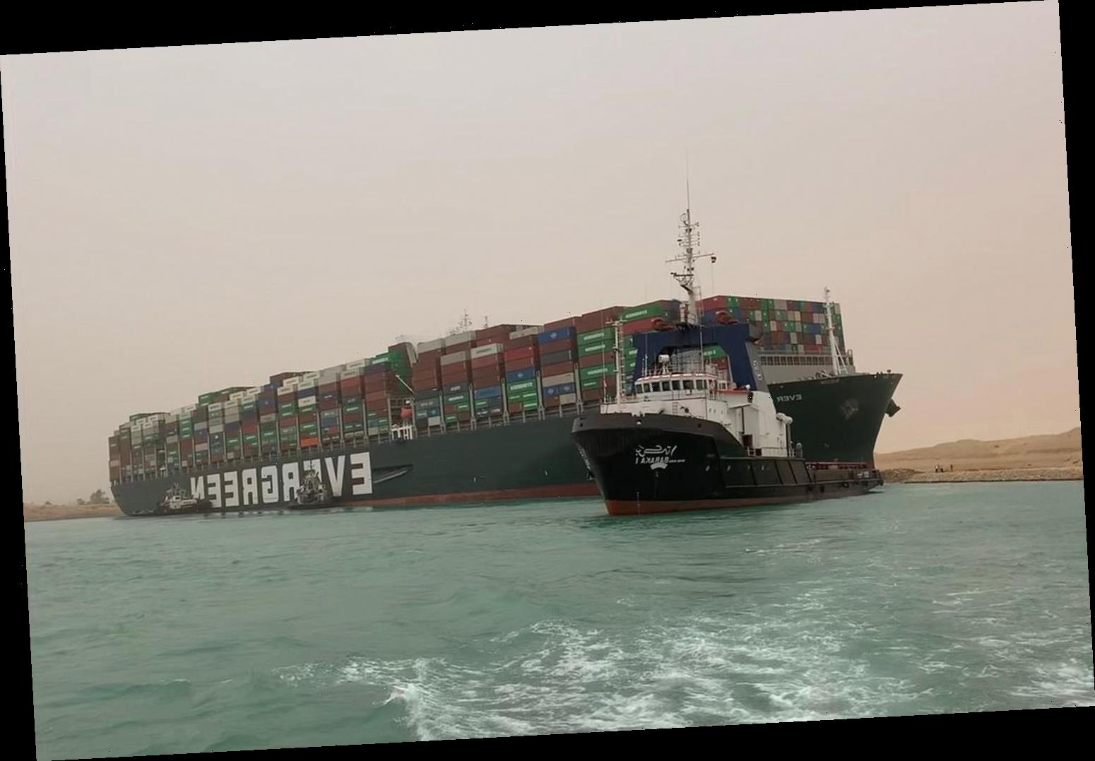 1,300-Foot Container Ship Accidentally Blocks Suez Canal for a Day