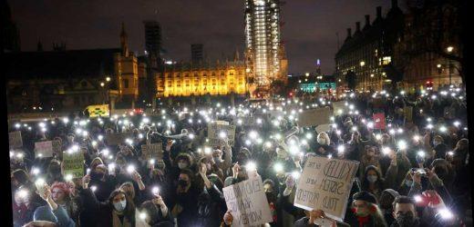 London police under fire for rough tactics during Sarah Everard vigil