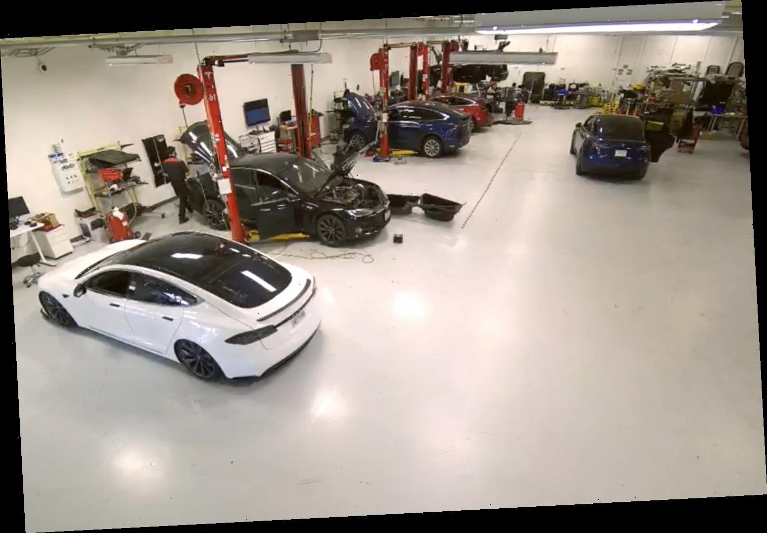 How did hackers access Tesla surveillance cameras?