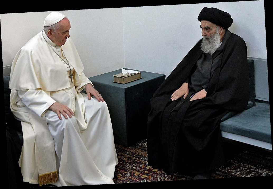 Pope Francis holds historic meeting with powerful Shia cleric in Iraq