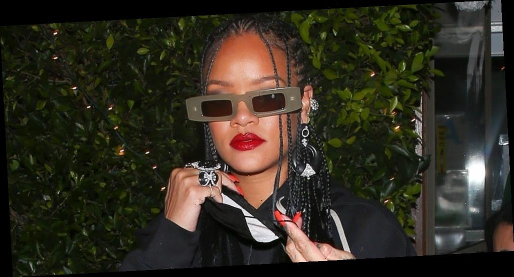 Rihanna Rocks Cool Leather Skirt For Dinner After Celebrating 'Anti' Album Anniversary