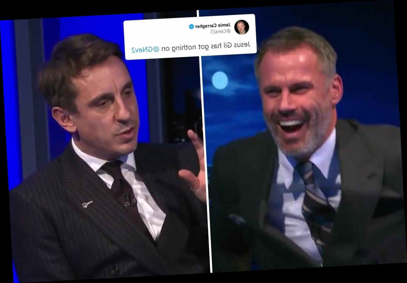 Carragher mocks Neville over sacking Wellens at Salford in brutal tweet after digging up old moan about axing bosses