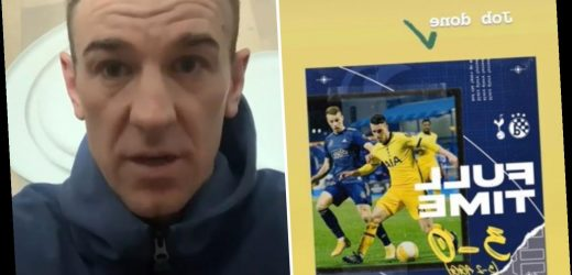 Joe Hart forced to apologise for awkward Instagram gaffe as Tottenham star's team post 'job done' after Europa League KO