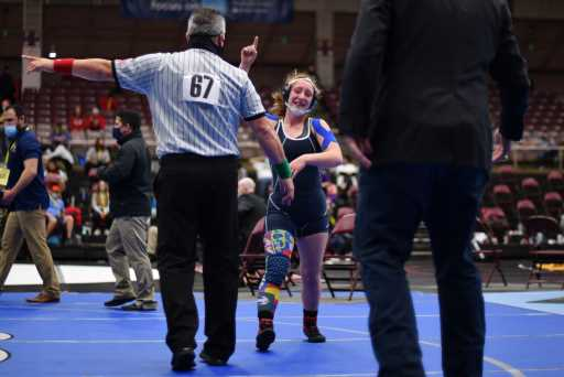 PHOTOS: First-ever CHSAA girls state wrestling tournament