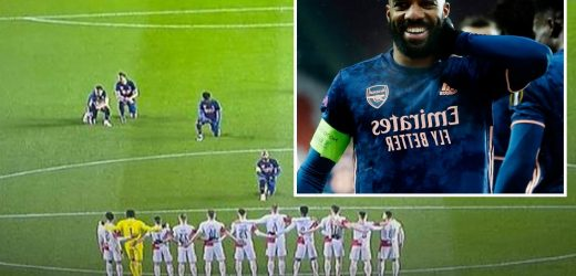 Alexandre Lacazette in powerful anti-racism statement by kneeling in front of Slavia Prague aces after Glen Kamara abuse