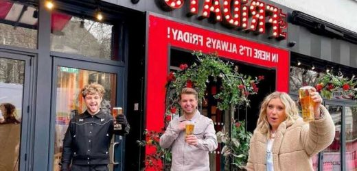 Ella Henderson joins Dancing On Ice star Sonny Jay for an outdoor pint in 2 degree temperatures as pubs reopen