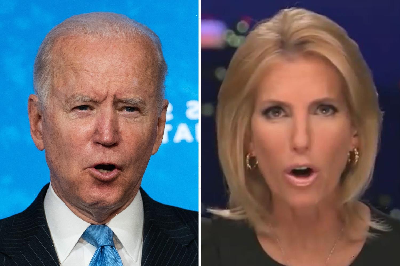 Fox News host Laura Ingraham calls 'powerful forces' behind Biden 'America's most dangerous insurrectionists'