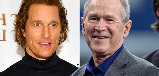 George W. Bush gives Matthew McConaughey political advice