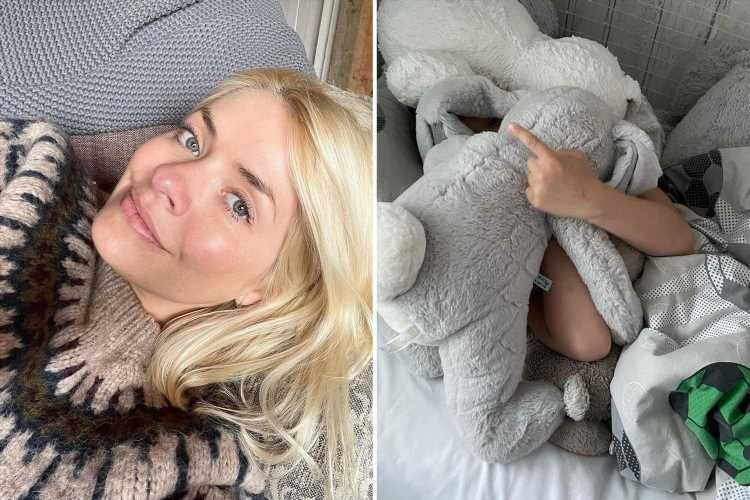 Holly Willoughby reveals her cheeky son Chester, 6, didn't want to go to school with adorable snap on This Morning break