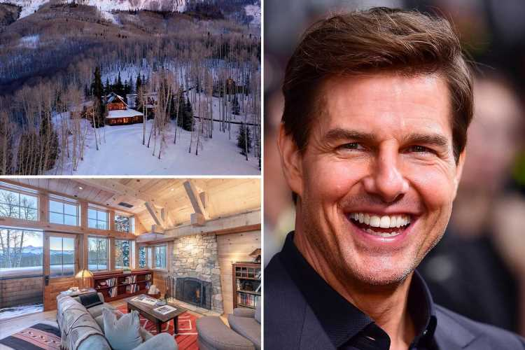 Inside Tom Cruise's massive $39.5M Colorado estate featuring a gym, game room and stunning mountain views