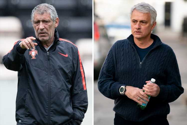 Jose Mourinho backed to become next Portugal manager by current boss Fernando Santos… but only when he leaves in 2024