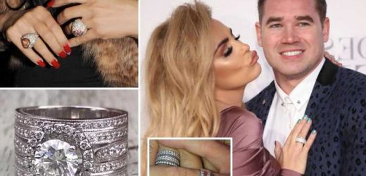 Katie Price's dazzling £1m jewellery haul from EIGHT engagements – including Peter Andre's '£600k' diamond rings – The Sun