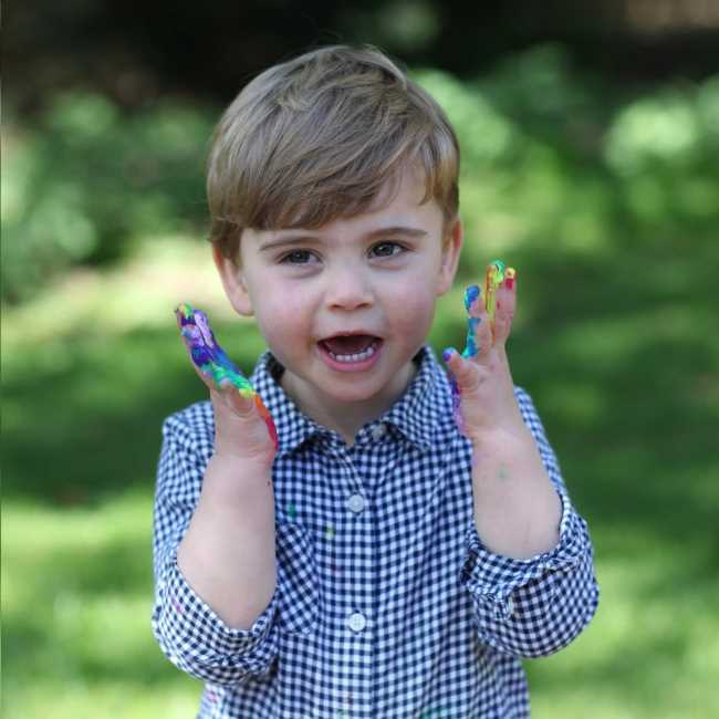Kensington Palace released a photo of Prince Louis for his third birthday