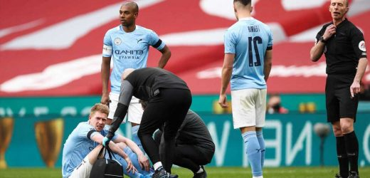 Kevin De Bruyne a Carabao Cup final doubt as Pep Guardiola admits injury 'doesn't look good' after Chelsea defeat
