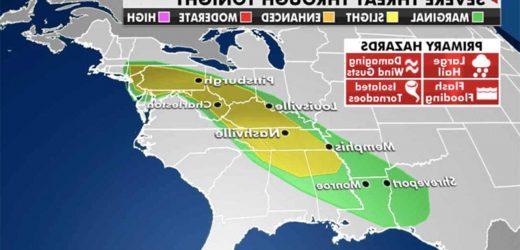 National weather forecast: Thunderstorms, heavy rainfall to produce flooding across Mid-Atlantic, Southwest