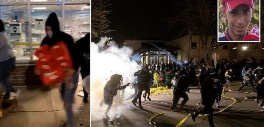 Police fire tear gas at protesters as officer fatally shoots man