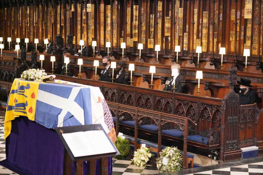 Prince Philip's coffin lowered into Royal Vault in unprecedented moment never seen on TV before