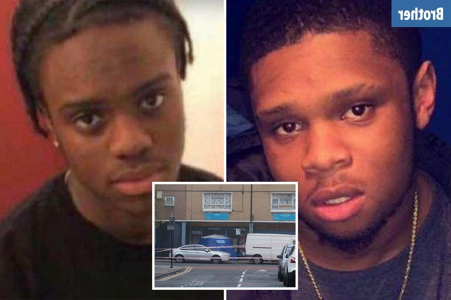 Teen, 18, was shot and stabbed in 'targeted attack' by 'man in car' just 150 yards from where brother was murdered