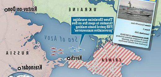 Ukrainian navy threatens to SHOOT Russian FSB boats near Kerch Strait