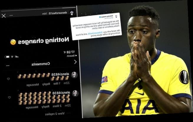 Tottenham condemn 'disgusting' racist abuse sent to Davinson Sanchez