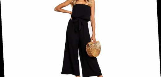 Finally! A Stylish Strapless Jumpsuit That Works for Day and Night