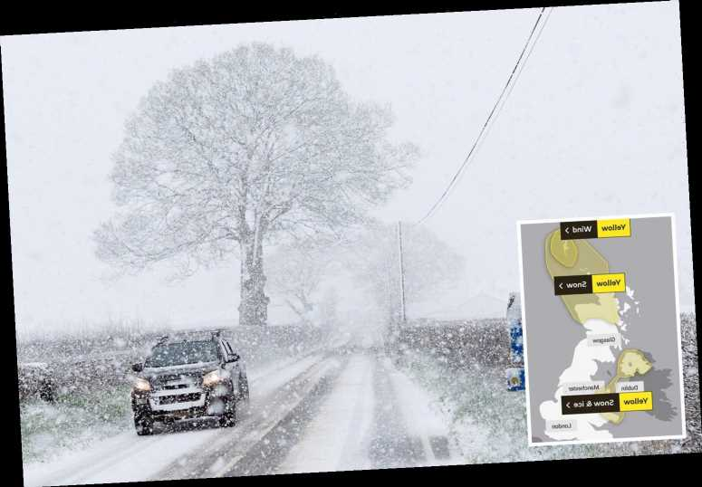 More snow today in -8C DEEP FREEZE with cold snap to continue all week as Met Office warns of 'severe' weather