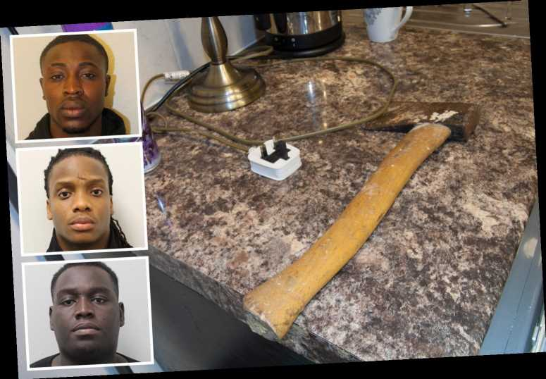 3 men jailed after raping 2 women in their own home as they broke into property with knives and axe before stealing cash