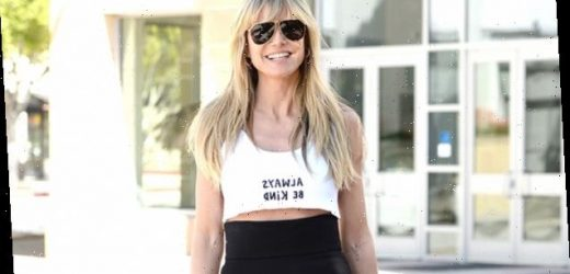 Heidi Klum, 47, Rocks Tiny Crop Top With The Message 'Always Be Kind' As She Heads To 'AGT' — See Pics
