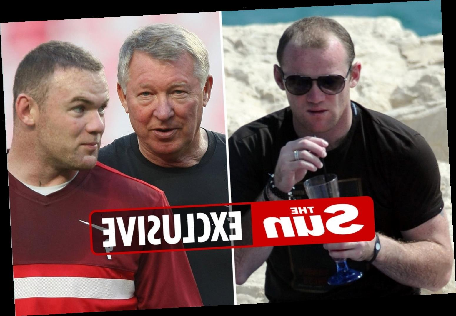 Sir Alex Ferguson claims Wayne Rooney could not handle his booze & he was powerless to stop the player having affairs