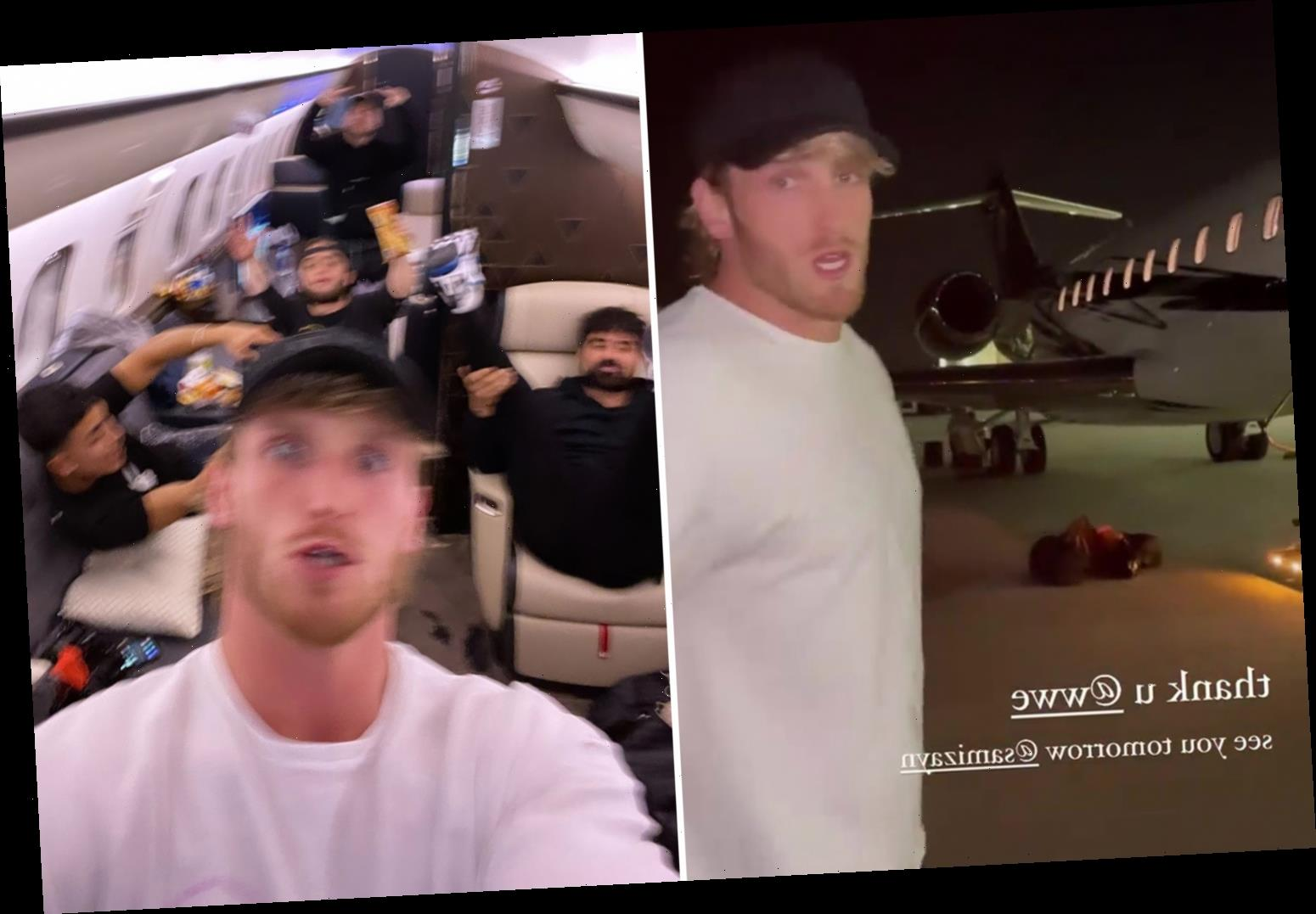 Logan Paul boards £45m private jet hired by WWE as YouTuber flies out to Florida for SmackDown appearance