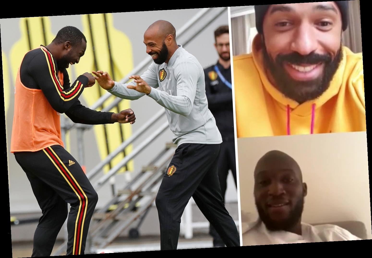 Thierry Henry humiliated Belgium star so badly in training he stormed off pitch, according to Romelu Lukaku – The Sun