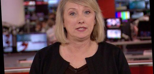 BBC newsreader Martine Croxall in tears as she announces Prince Philip's death