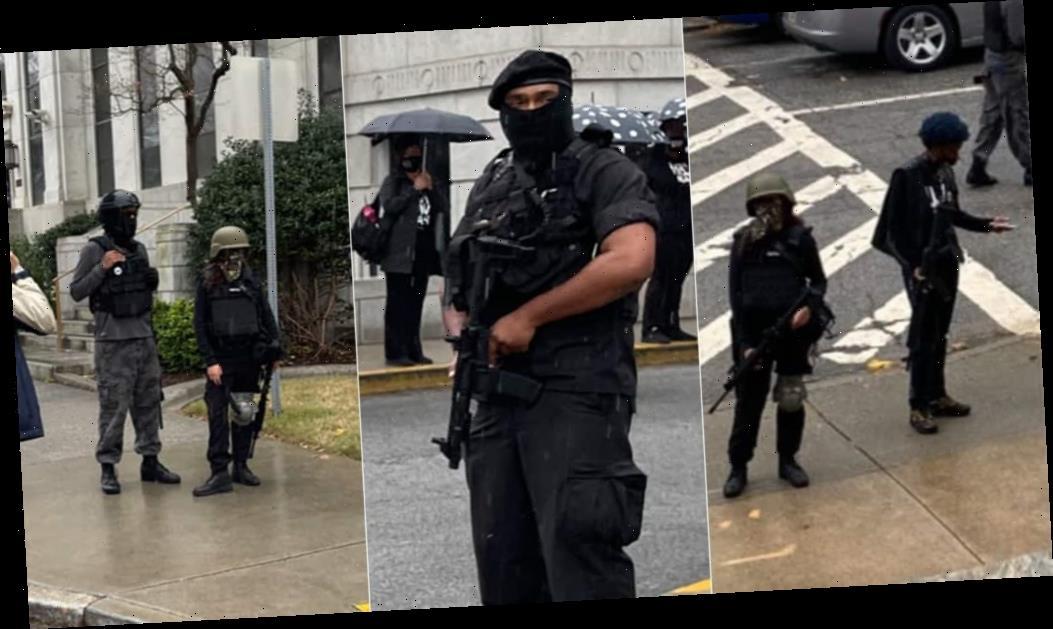 Georgia GOP's Atlanta election integrity rally met by armed left-wing militia