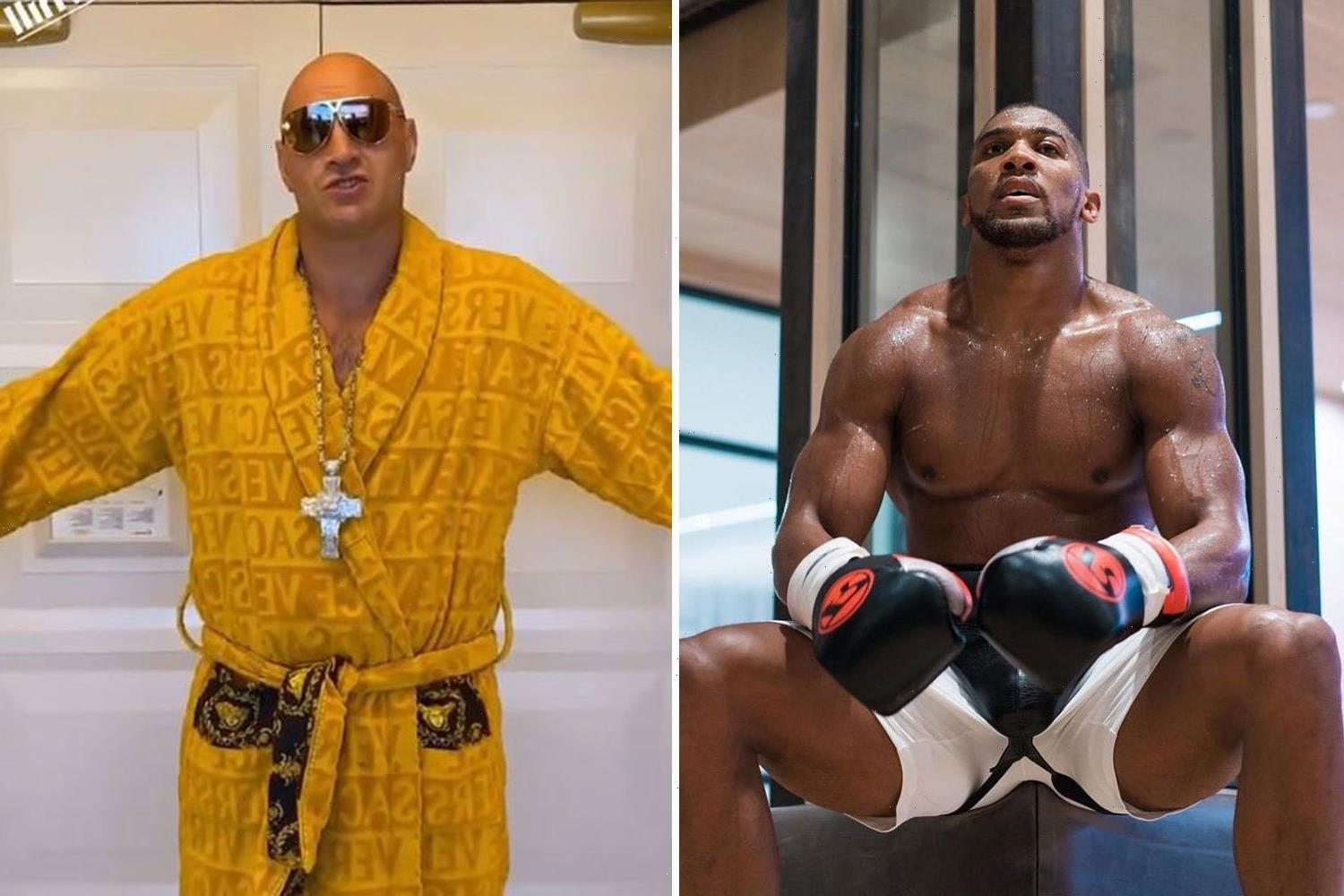 Anthony Joshua looks ripped and shows off bulking abs while branding himself 'cold blooded' ahead of Tyson Fury fight