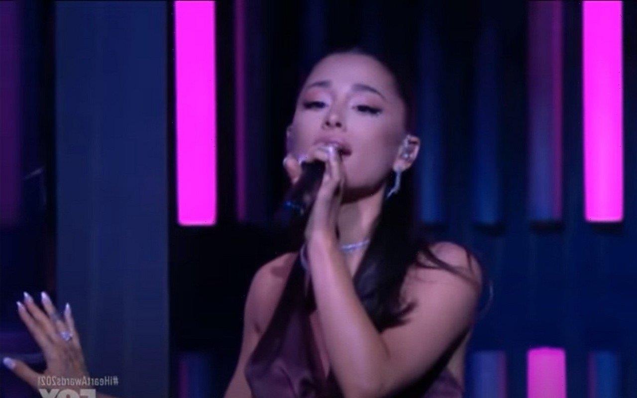 Ariana Grande Flashes Wedding Ring at iHeartRadio Music Awards