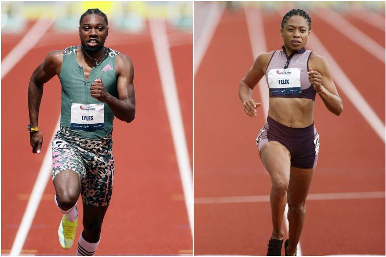 Athletics: Noah Lyles, Allyson Felix finish strong but DK Metcalf comes up short at Golden Games