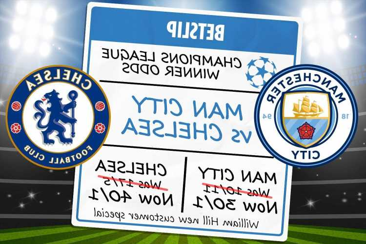 Champions League final free bets and special offer: Get Man City at 30/1 or Chelsea at 40/1 with William Hill odds boost