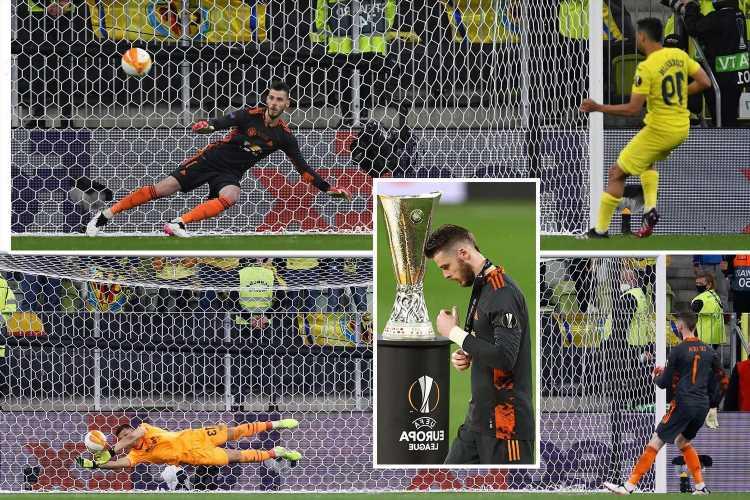 David De Gea conceded 36th straight penalty before missing own spot-kick in Man Utd shootout heartbreak