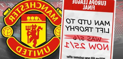 Europa League final: Get 25/1 on Man Utd to beat Villarreal with William Hill special bet