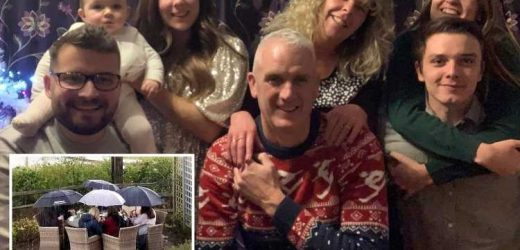 Family say they were 'more likely to catch pneumonia than Covid' outside local pub