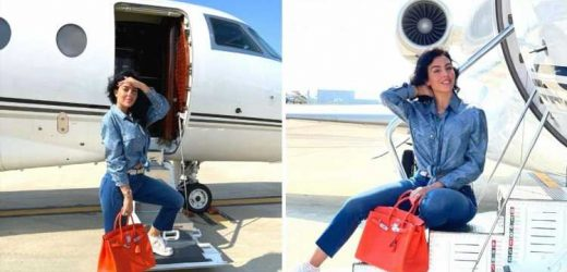 Georgina Rodriguez boards private jet to Paris as fans jump to conclusion Cristiano Ronaldo will make transfer to PSG
