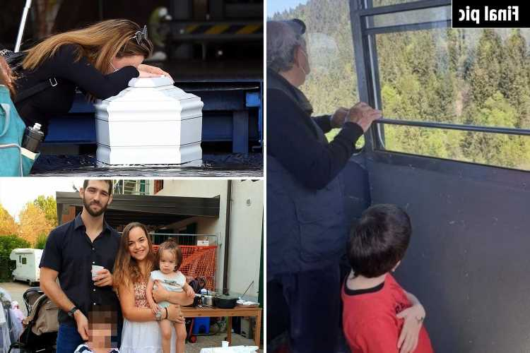 Haunting final pic of tragic Israeli boy, 5, on Italy cable car as he wakes from coma to learn his parents had died