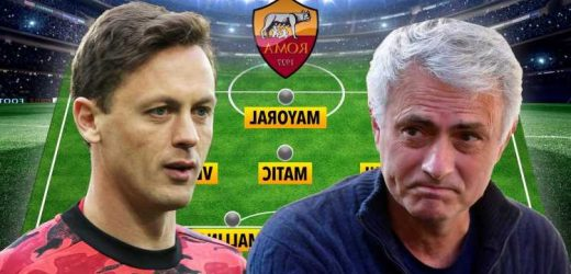 How Roma could line-up under Jose Mourinho with Erik Lamela and Nemanja Matic available for old boss in Italy