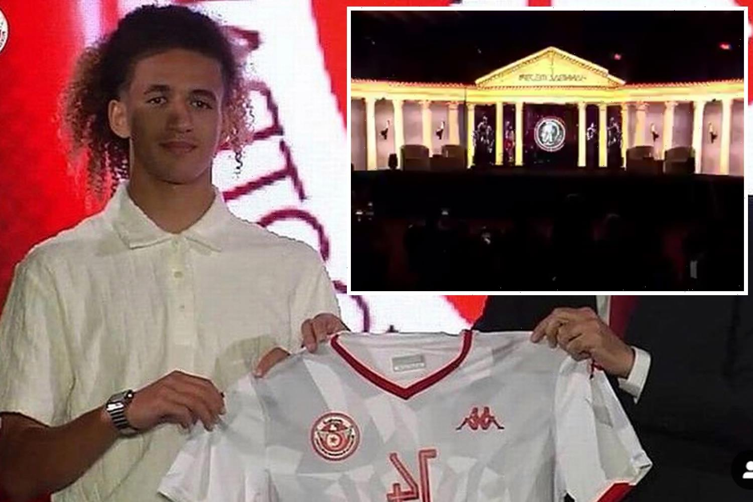 Man Utd wonderkid Hannibal Mejbri given bizarre glitzy unveiling by Tunisia after switching allegiance from France