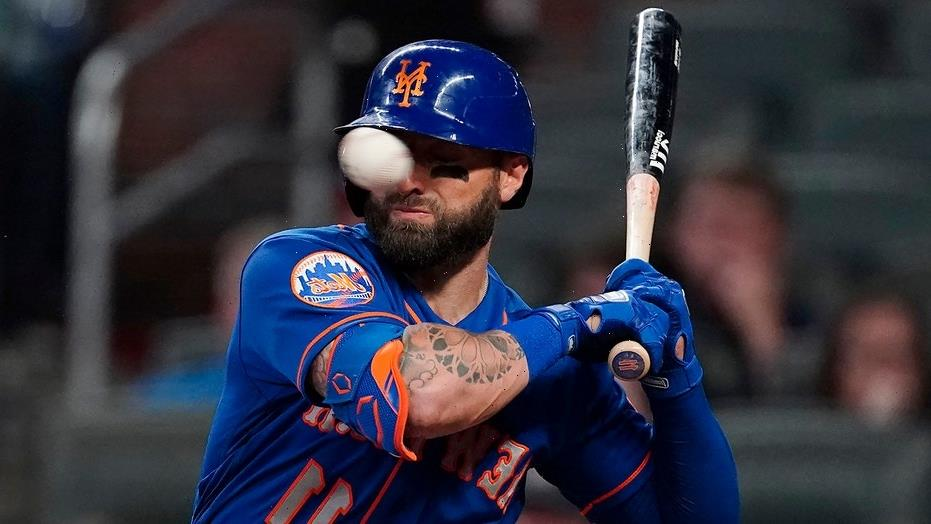 Mets' Kevin Pillar shares update after getting hit in face by pitch vs. Braves