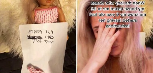 Mortified mum discovers her six-year-old daughter has been leaving secret notes for the cleaner & they're VERY demanding