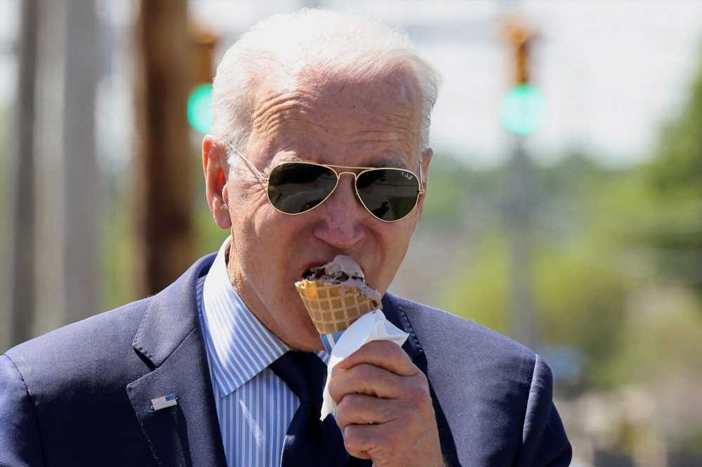Press slammed for making Biden their fav flavor with ice cream questions