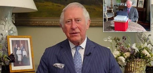 Prince Charles gives video message.. with NO picture of Prince Harry